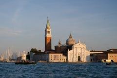 San giorgio maggiore, venice, italy. San giorgio maggiori in venice at sunset Royalty Free Stock Images