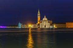 San Giorgio Maggiore in Venice lagoon, Italia Royalty Free Stock Photo