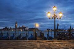 San Giorgio Maggiore from Venice by nigh Stock Photos