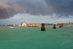 San Giorgio Maggiore in Venice Summer Rain Royalty Free Stock Photo