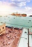 San Giorgio and San Marco panorama Stock Photography