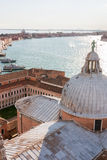 San Giorgio watching over Venice Stock Images