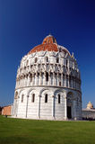 The San Giovanni baptistry in Pisa Stock Image
