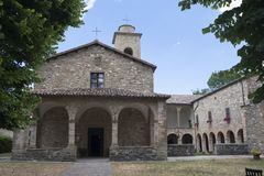San Giovanni Battista church at Carpegna Marches, Italy Royalty Free Stock Photos