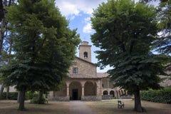 San Giovanni Battista church at Carpegna Marches, Italy Stock Images