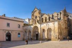 San Giovanni Battista Church Matera Basilicata Apulia eller Puglia italy royaltyfri bild