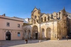San Giovanni Battista Church Matera Basilicata Apulia o Puglia Italia imagen de archivo libre de regalías