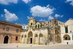 San Giovanni Battista church in Matera, Italy Stock Photography