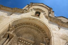 San Giovanni Battista church in Matera, Italy Stock Photo