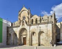 San Giovanni Battista Church in Matera, Southern Italy Stock Image