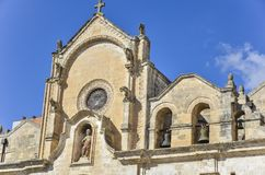 San Giovanni Battista Church in Matera, Zuidelijk Italië Royalty-vrije Stock Afbeelding