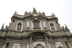 San Giovanni Battista, iglesia en Morbegno, Italia en Lombardía Imagen de archivo