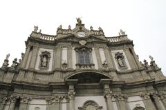 San Giovanni Battista, Kerk in Morbegno, Italië in Lombardije stock afbeelding