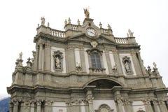 San Giovanni Battista, Kerk in Morbegno, Italië in Lombardije royalty-vrije stock foto