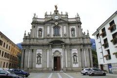San Giovanni Battista, Kerk in Morbegno, Italië in Lombardije royalty-vrije stock foto's