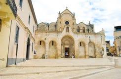San Giovanni Battista kyrka av Matera royaltyfria foton
