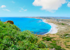 San Giovanni beach under clouds Royalty Free Stock Photography