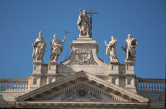 San Giovanni cathedral. Facade of the cathedral of San Giovanni in Rome Stock Photo
