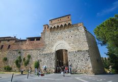 San Giovanni Gate in San Gimignano, Tuscany, Italy royalty free stock photos