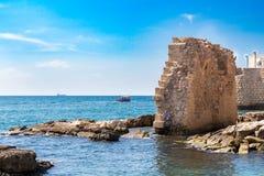 San Giovanni d'Acri, resti del porto antico Fotografie Stock Libere da Diritti