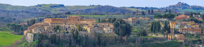 San Giovanni d'Asso, in the Province of Siena, Tuscany, Italy Royalty Free Stock Images