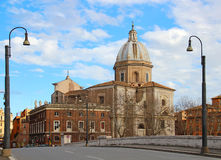 San Giovanni dei Fiorentini church, Rome, Italy stock photos