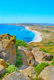 San Giovanni di Sinis beach on a clear day Royalty Free Stock Images