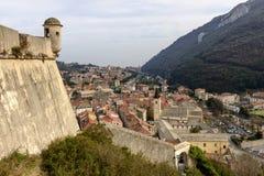 San Giovanni kasztelu wioski i wieży obserwacyjnej dachy, Finalborgo, Ja Zdjęcia Stock