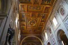 San Giovanni in Laterano ceiling Stock Image
