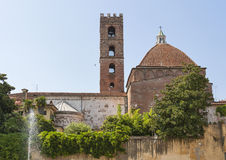 San Giovanni tower and Reparata Church in Lucca, Italy. Royalty Free Stock Photos