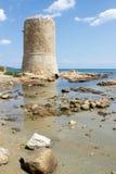 San Giovanni Tower in Sardinige Royalty-vrije Stock Afbeelding