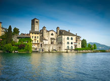 San Giulio Island Stock Photo