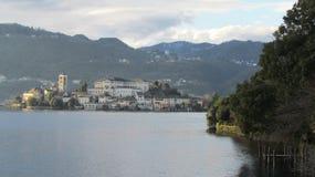 San Giulio Island - lac Orta Photographie stock libre de droits