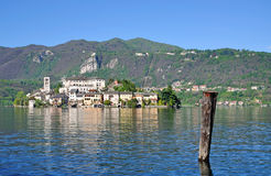 San Giulio Island,Lake Orta,Italy Royalty Free Stock Photography
