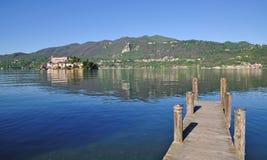 San Giulio Island,Lake Orta,Italy Stock Images