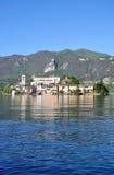 San Giulio Island,Lake Orta,Italy Royalty Free Stock Image