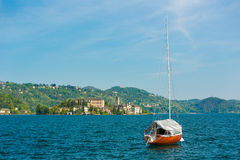 San Giulio Island lake Orta Royalty Free Stock Photo