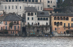 San Giulio isle Orta Lake, Italy Stock Photos