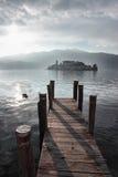 San Giulio isle Orta Lake, Italy Royalty Free Stock Photos