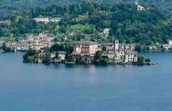 San Giulio on Lake Orta Stock Images