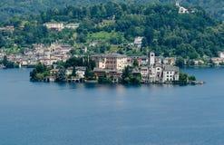 San Giulio on Lake Orta Stock Images