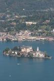 San Giulio Lake Orta Stock Images