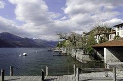 San Giulio Orta Lakescape Royalty Free Stock Photo