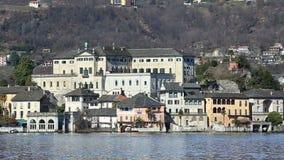 San Giulio wyspa, Orta jezioro, Włochy zbiory