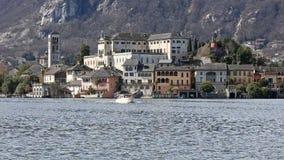 San Giulio wyspa, Orta jezioro, Włochy zdjęcie wideo