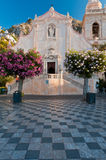 San Giuseppe Church. Front view on the San Giuseppe Church in Taormina, Sicily. Photo taken just after the sunrise Stock Images