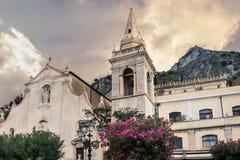 San Giuseppe Church in Taormina. Sicily, Italy Royalty Free Stock Photography