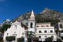 San Giuseppe church, Taormina, Sicily stock images