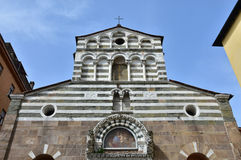 San Giusto medieval church in Lucca Royalty Free Stock Images