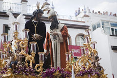 San Gonzalo brotherhood in the Triana district in procession of Easter on Holy Monday Royalty Free Stock Image